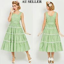 Women Vintage 50s 60s Dot Rockabilly Swing Cocktail Dress Plus Size