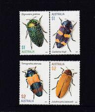 AUSTRALIA 2016 JEWEL BEETLES -  Design set of 4  MNH - Insects ,wildlife.