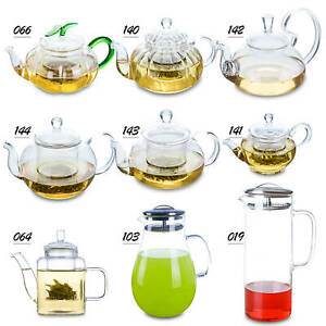 Novelty Creative Shapes Heat Resistant Glass Coffee Flower Tea Pot with Infuser