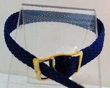 Bracelet Montre Watch Bands Nylon Tressé Style Nato 12 mm Marine Longueur 22 cm
