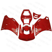 Red Fairing Body Work Injection For Ducati 748 916 996 998 Two Seat Passenger