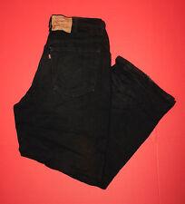 Men's Levi's 36x30 575 Wide Leg Black Wash Denim Jeans