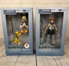 Set of 2 Disney Kingdom Hearts Game Action Figures - MICKEY With Pluto ROXAS New