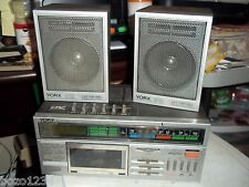 RARE YORX AM FM STEREO CASSETTE RECEIVER RADIO DIGITAL CLOCK M2490A +S10 SPEAKER