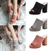 Fashion Women Ladies High Heel Wedge Platform Flip Flops Sandal Slipper Shoes P1