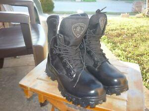 Men's NIB 7 W Wide Rocky Alpha Force Black Lace Up Duty Boots 2165