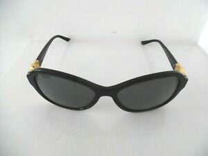 Ladies Versace Black & Gold Oval Polarized Sunglasses 4262 GB1/81 57 17 135 3P