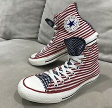 Converse All Stars Unisex Mens 7 Womens 9 American Stars Stripes Shoes Hi Tops