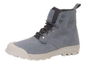 Palladium Men Authentic pampatech HI LEA WP Boots,Monument/Slvrbrch, Brand New