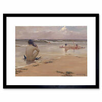 Rupert Bunny Sea Idyll 1891 Old Painting Framed Art Print 12x16 Inch