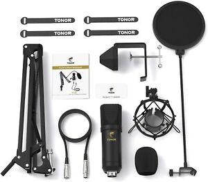 Mikrofon Tonor XLR Kondensator Professional Nieren Elektronik Recording Schwarz