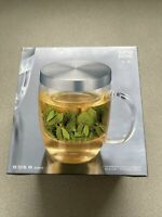16 Ounces Mug with Infuser and Lid, Glass Tea Cup with Stainless Steel
