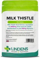 Milk Thistle 100mg (eq. 2000mg seed) x 120 Tablets; Lindens