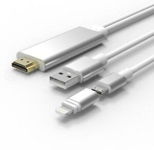 8 Pin Lightning To HDMI Cable Micro USB HDTV AV Adapter For iPad iPhone Android