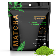 Greenboxed Matcha Green Tea Powder (Japanese, Organic, PREMIUM LATTE GRADE, 30g)