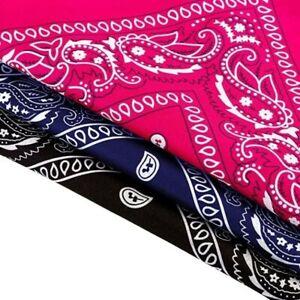Cotton PAISLEY BANDANA headband head wear tie wrap band scarf neck wrist