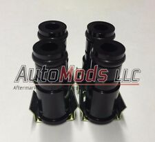 "Set of 4 1.0"" Tall Fuel Injector Top Hat Extender Black 14mm 14 camaro mustang"