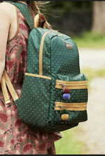 Matilda Jane Cross Campus Backpack Green Polka Dot School Bookbag Nwt