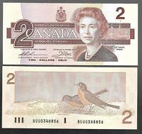 Canada $2 (1986) - QE II PORTRAIT - UNC BANKNOTES  ✹DH L14✹