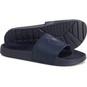 New Balance Men's NY City Marathon Logo Blue Slide Sandals Leather  SMF200NY