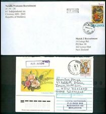 MOLDOVA COVERS TO NEW ZEALAND x2 (ID:380/D26786)