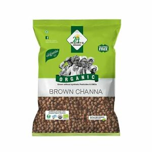 24 Mantra Organic Brown Chana (Chickpeas) - 500g (Pack of 1)