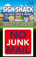 "NO JUNK MAIL 3"" Warning Front Door Window Garden Letter Box Sticker Sign!"