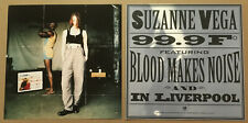 Suzanne Vega Rare 199 Set 2 Double Sided Promo Poster Flat for 99.9 Cd Mint Usa