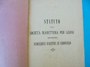 PELJESAC MARITIME SOCIETY (Pelj. Pomors. Drustvo) STATUTE 1865 Croatia Dubrovnik