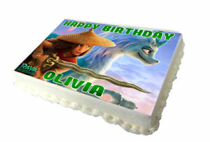 Raya last Dragon A4 Edible Birthday Cake Topper - Real Icing Sheet