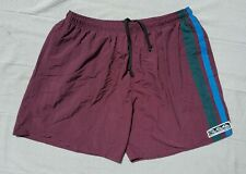 Vtg 90s Quiksilver Nylon Baggies Striped Retro Surf Board Shorts Swim Trunks L