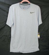 Nike Men's Breathe Hyper Dri Fit Training Shirt 832835 Gray Size Small S New