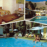 Vintage 1960s El Moro Villa Postcard Palm Springs Canyon Hotel Motel Swimming