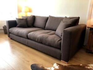 Sofa Workshop Dillon XL 3 Seater Sofa in Chocolate Brown, Super Comfortable