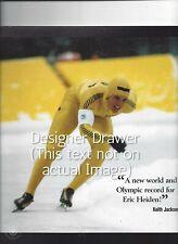 Eric Heiden Olympic Speed Skater World Record Olympics Scene 1980 Vintage Photo
