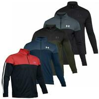 UNDER ARMOUR UA MENS SPORTSTYLE PIQUE FULL ZIP SPORTS TRAINING TRACK JACKET