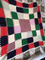 Vintage Multi Knit/Crochet Blanket/Throw