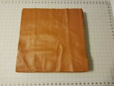 """Upholstery Leather - Caramel Brown 16"""" x 16"""" Squares"""