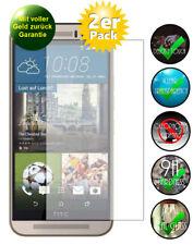 2x HTC One M9 Panzerglas Schutzfolie 9H Echtglas Displayschutz Panzerglasfolie