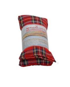 Hot Wheat Bag - Herbal Lavender Fragrance - Hot & Cold Pack Fleece - Tartan Red