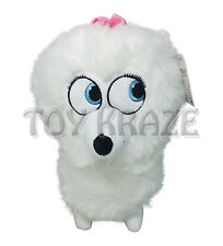 "THE SECRET LIFE OF PETS PLUSH! SMALL GIDGET WHITE FLUFFY DOG SOFT DOLL 7"" NWT"