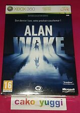 ALAN WAKE EDITION COLLECTOR XBOX 360 VERSION 100% FRANCAISE NEUF ABIME SCELLE