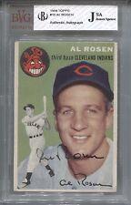 Al Rosen 1954 Topps Signed #15 Auto JSA Cleveland Indians Leaf Ink Baseball 2011