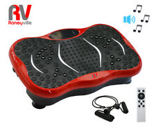 Ultra Compact Slim Crazy Fit Oscillating Vibration Power Massage Fitness Plate Red