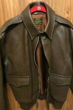 GIBSON & BARNES A-2 Men's Leather Flight Jacket-  COLOR: BROWN-  Size 40 NEW