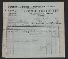Villotte, facture 1932, Louis douche fabrique de sièges & meubles sculptés