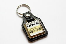 Vauxhall Nova Keyring - Leatherette & Chrome Retro Classic Car Auto Keytag