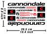 Cannondale Decal Stickers Fahrrad Grafik Autocollant Aufkleber Adesivi # 2/595