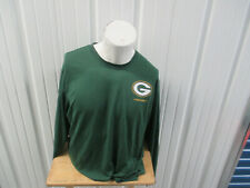 NIKE NFL GREEN BAY PACKERS FOOTBALL LONG SLEEVE 2XL GREEN DRI-FIIT SHIRT