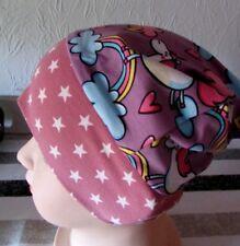 Knoten-Mütze mit Unicorn und Sternen für Gr. 92-98 (46-48cm) Handmade
